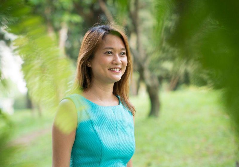 Woman in park RF