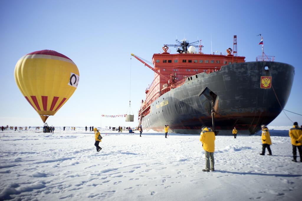North pole hot air balloon