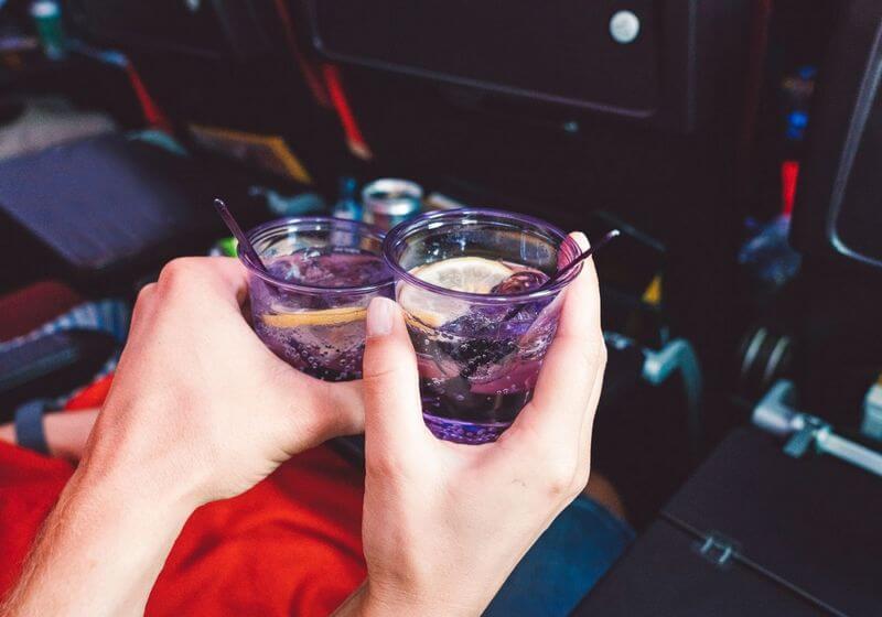 Gin drink on a plane RF