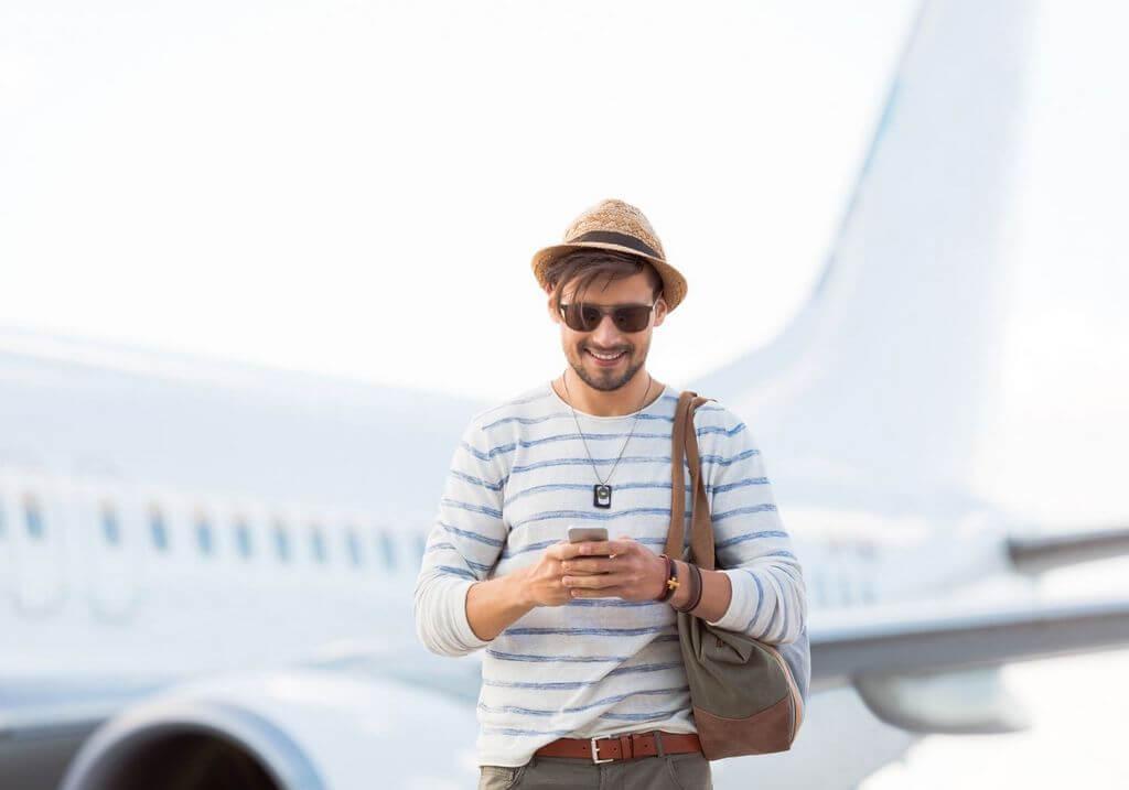 Phone airport traveler plane RF