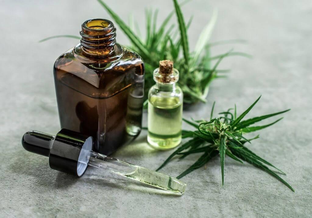 CBD oil bottle hemp RF