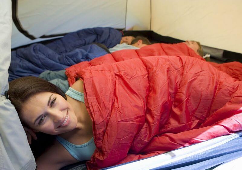 Camp tent sleep RF