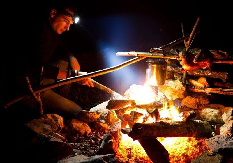 Flashlight torch camp fire RF