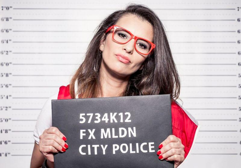 Arrested woman RF