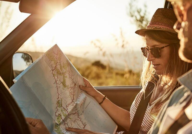 RV van map drive roadtrip