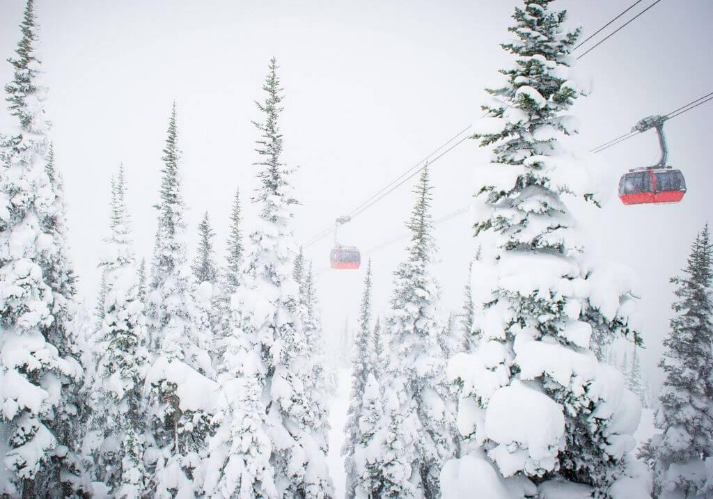 Whistler Gondola Winter Snow Mountains RF