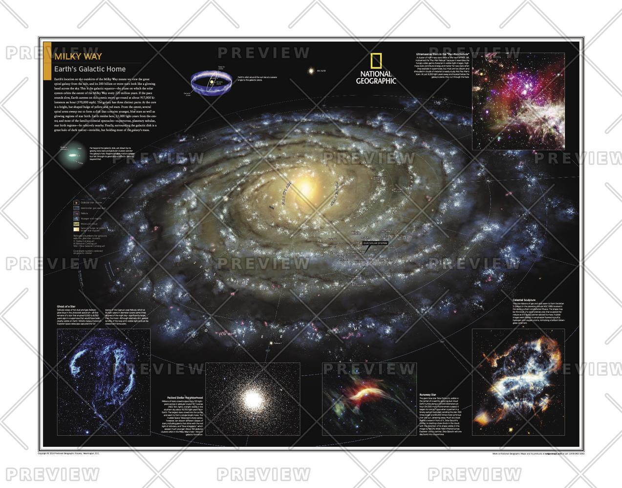 Milky Way Wall Map