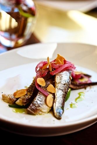 roasted sardines at Skool