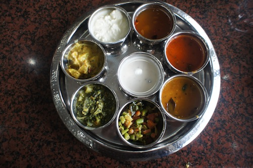 Vegetarian thali at Banana Leaf Apolo