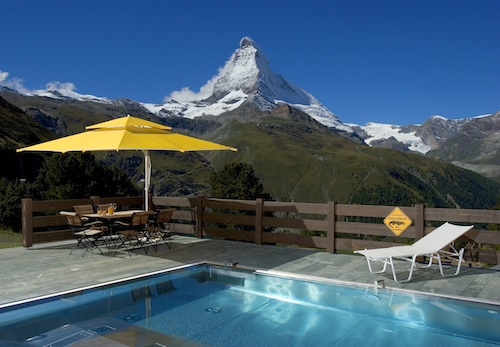 swimming pool zermatt luxury hotel
