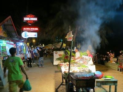 restaurants on alona beach