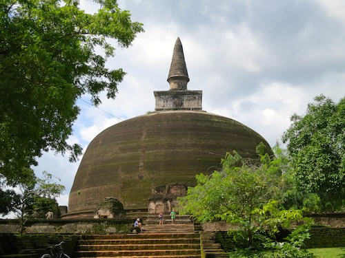 Stupa in the ancient city of Polonnaruwa