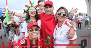 أجواء الجماهير المغربية والإرانية قبل إنطلاق المقابلة
