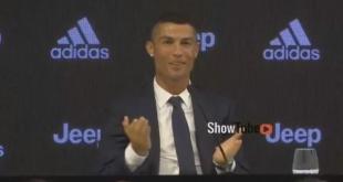 بالفيديو: رونالدو يتحدث ضاحكا عن بنعطية خلال تقديمه كلاعب جديد لليوفي ..ماذا قال عنه؟