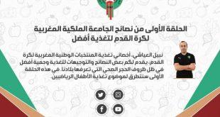 الحلقة الأولى من نصائح الجامعة الملكية المغربية لكرة القدم لتغذية أفضل