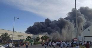 حريق مهول بأحد المصانع بطنجة