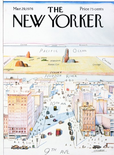 Saul Steinberg, cover for The New Yorker, 29 March 1976.