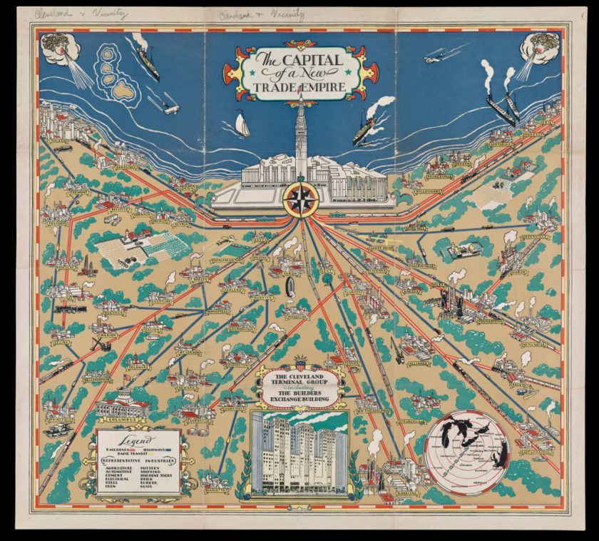 The Capital of a New Trade Empire, 1929. Sheet map, 33×30 cm. Osher Map Library, University of Southern Maine.