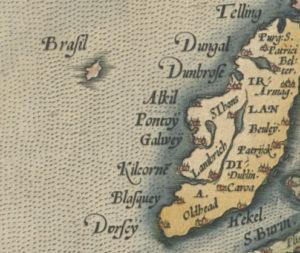 """Abraham Ortelius, """"Septentrionalium Regionum Descrip.,"""" from Theatrum Orbis Terrarum Antwerp, Belgium, 1570."""
