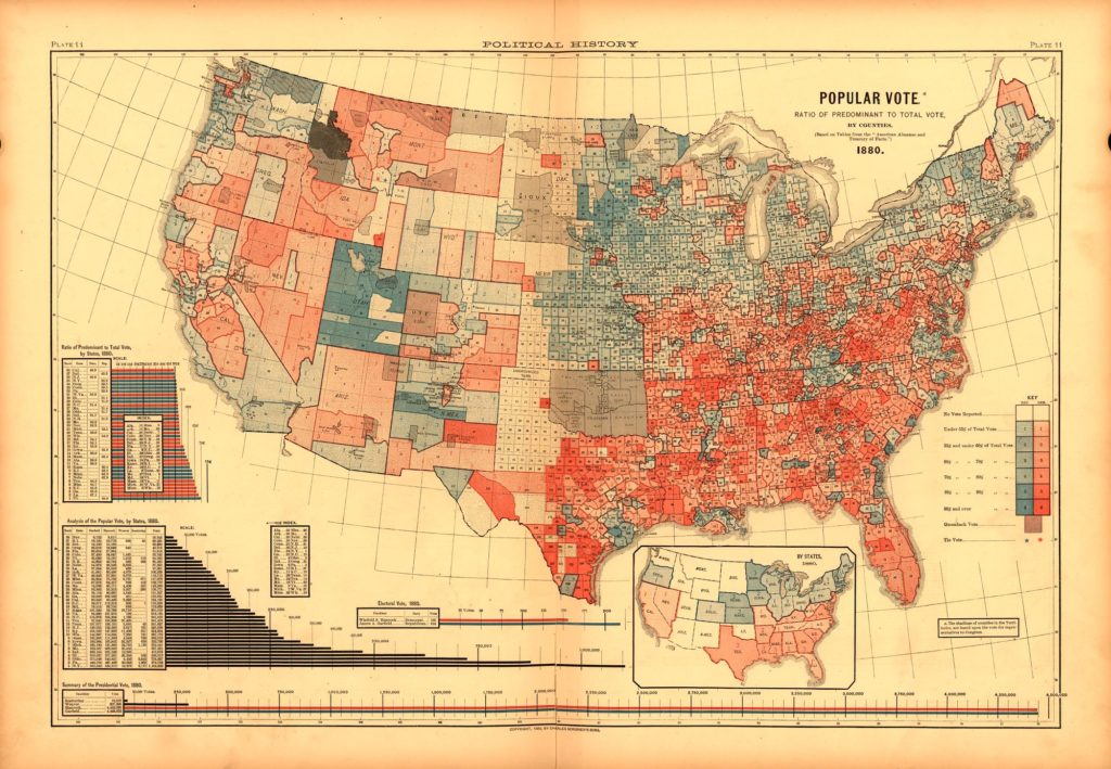 Maps History Book on CD 1883 Scribner/'s Statistical Atlas of the United States