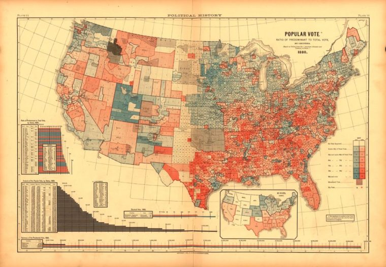 Scribner's statistical atlas of the United States,
