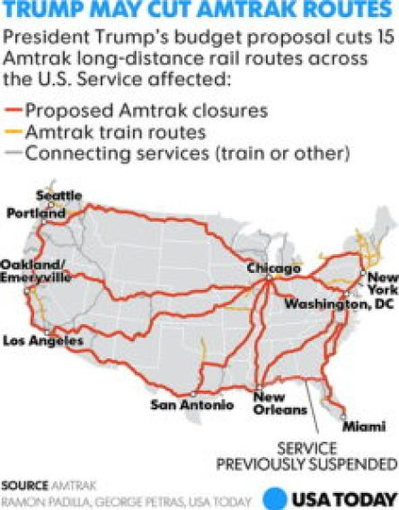 Amtrak Los Angeles Map.Mapping Amtrak Cuts The Map Room