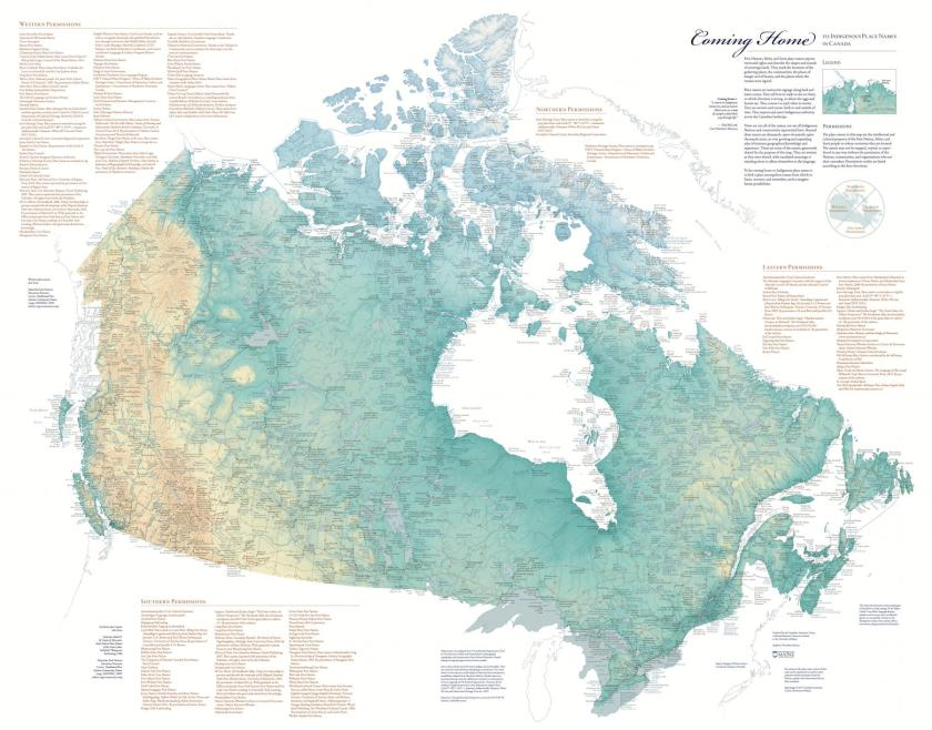 Map Of Canada Languages.Indigenous Place Names And Cultural Property The Map Room