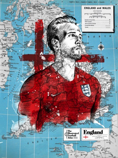 """Harry Kane--England,"" from Michael Raisch, The Illustrated Football Atlas, 2018."