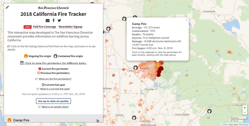 San Francisco Chronicle Fire Map California Wildfire Roundup – The Map Room