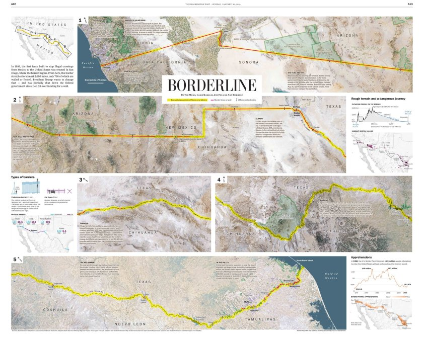 The Washington Post Maps the U.S.-Mexico Border – The Map Room