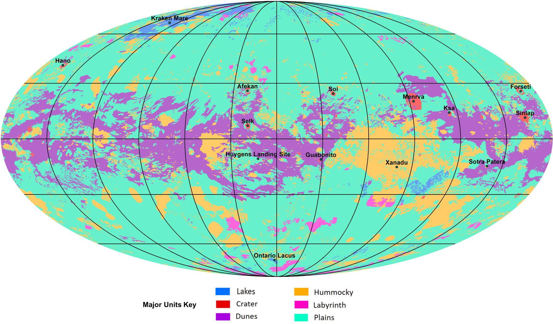 Geologic map of Titan