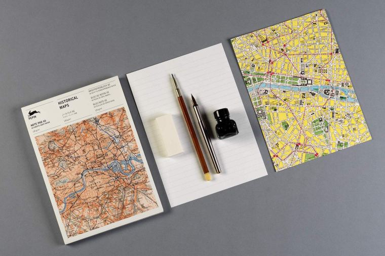 Pepin Press Historical Maps A5 Notepad
