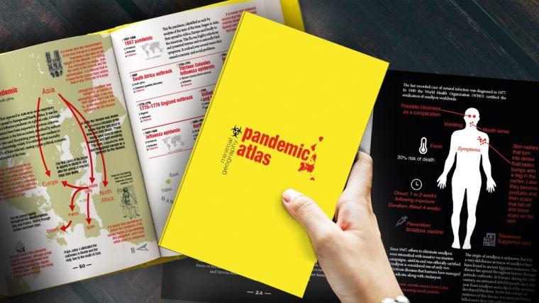 Pandemic Atlas banner illustration
