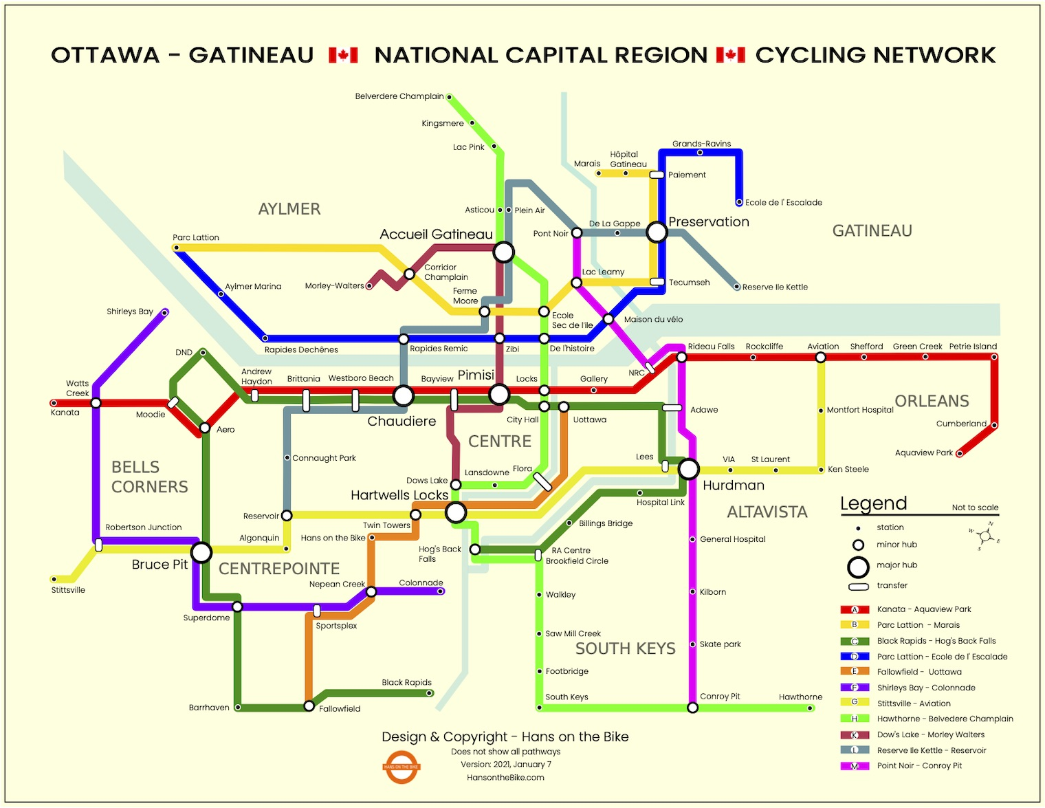 A Network Map of Ottawa's Cycling Network