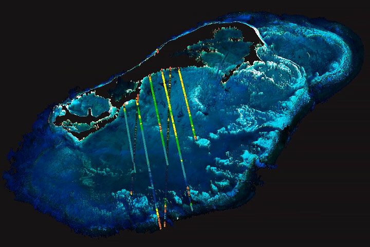 Seafloor map of Bermuda