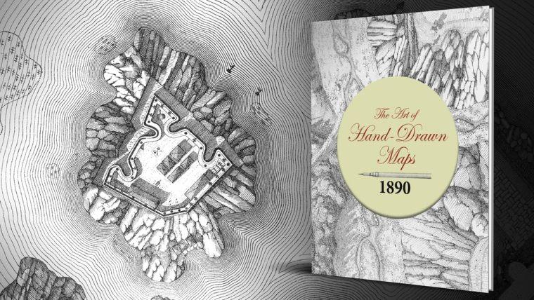 The Art of Hand Drawn Maps 1890 (Kickstarter cover image)