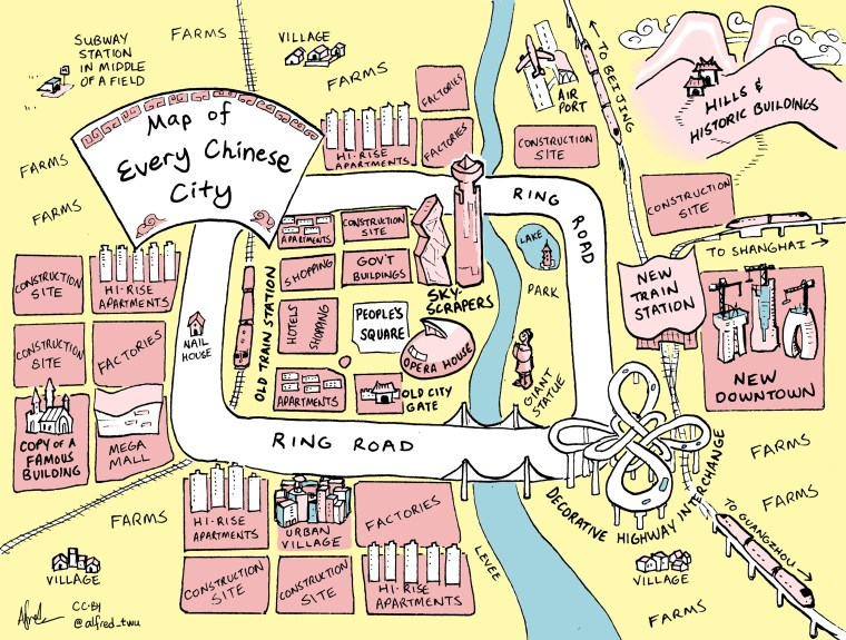 Map of Every Chinese City (Alfred Twu)