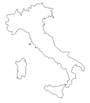 Map of Italy: A Source for All Kinds of Maps of Italy