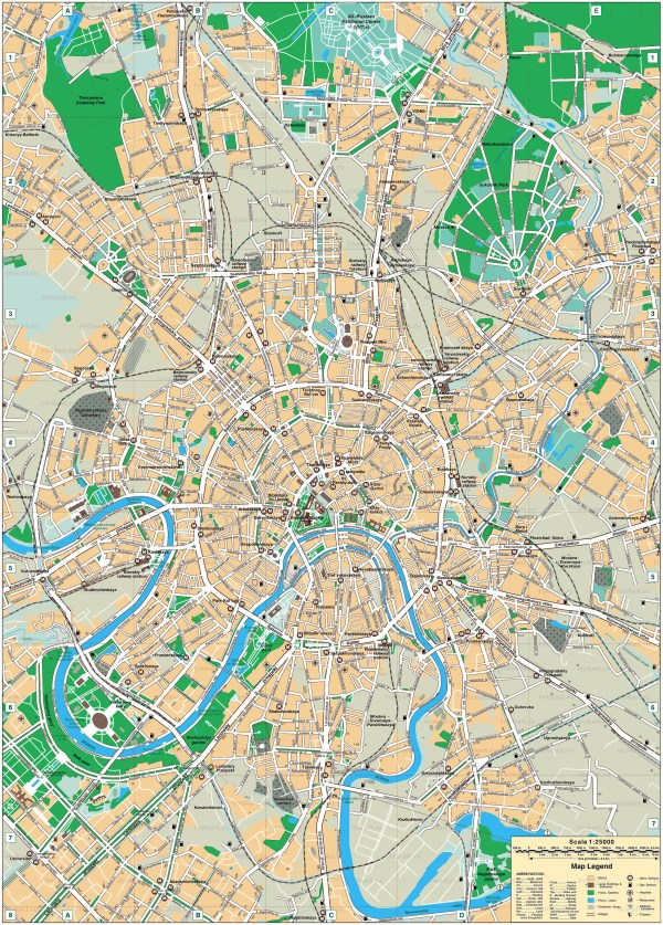 Maps of Moscow Detailed map of Moscow in English Maps