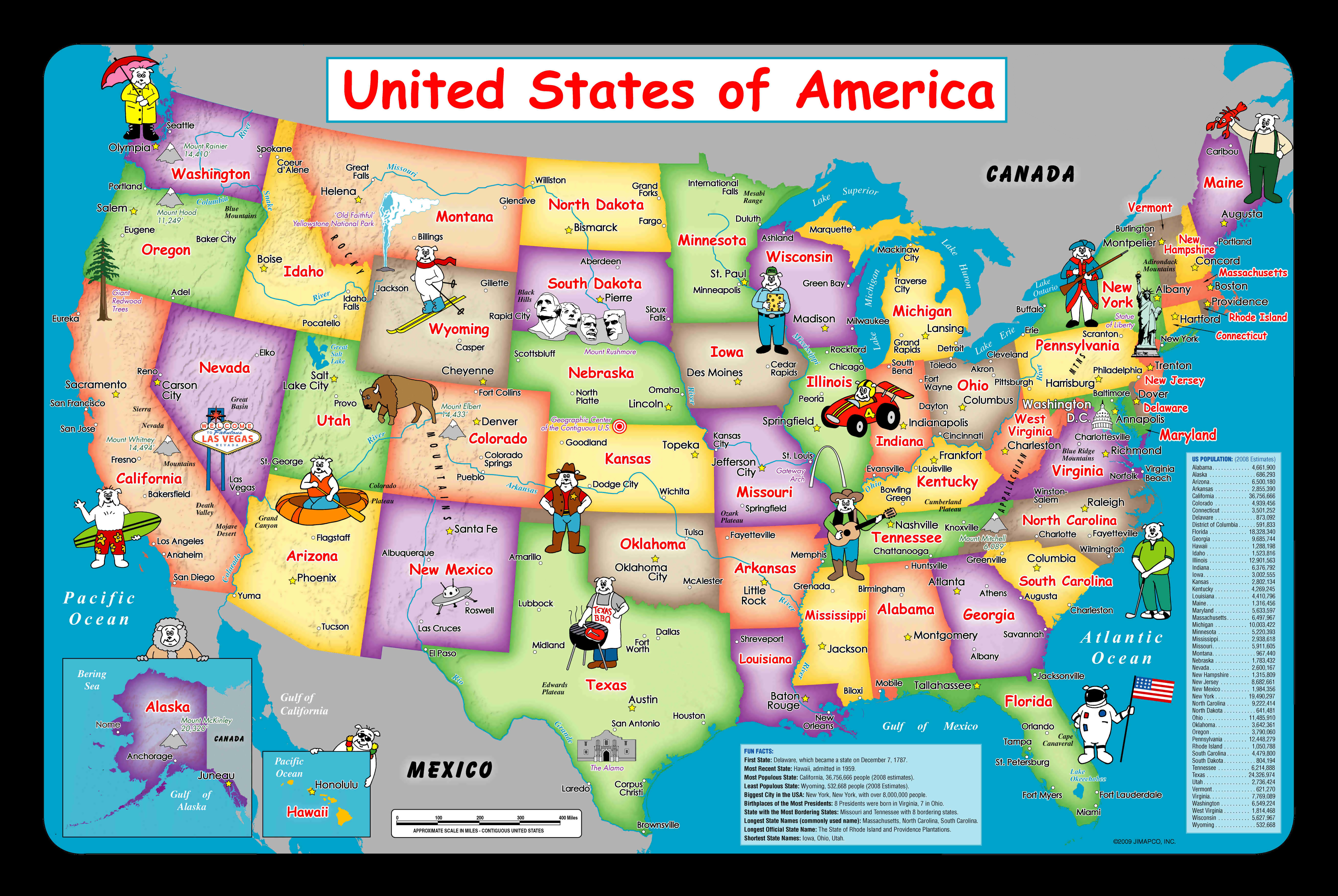 Usa Map For Kid