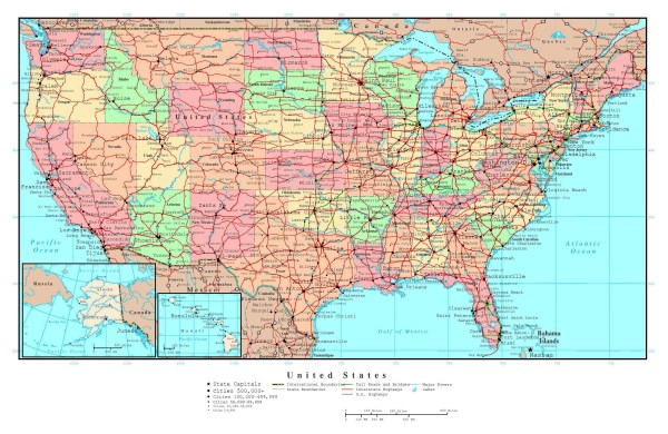 Usa Map With Major Highways Pictures to Pin on Pinterest