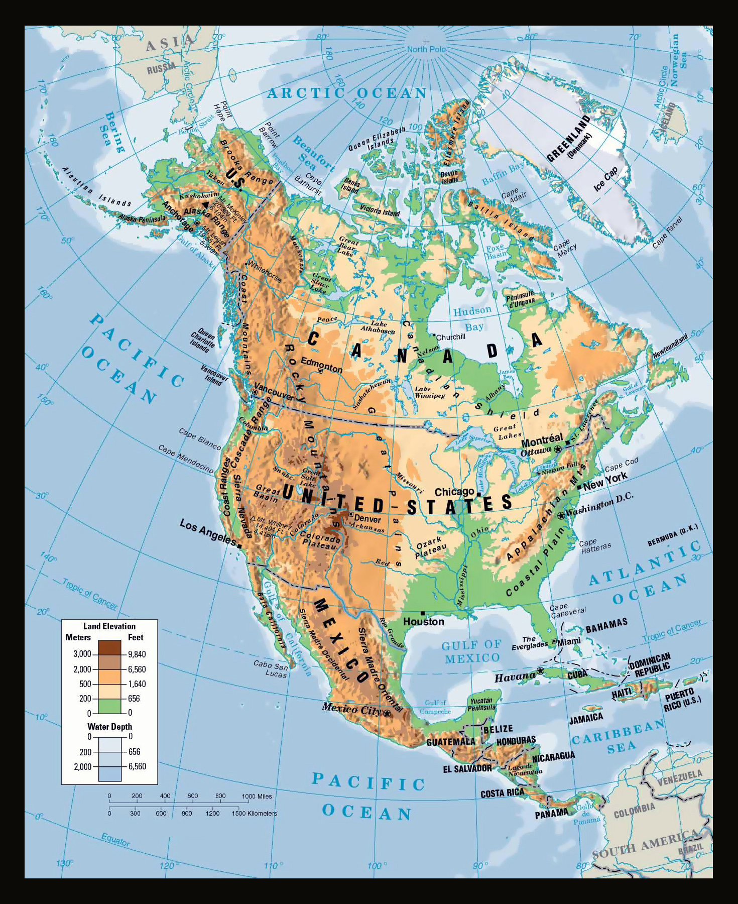 Maps Of North America And North American Countries