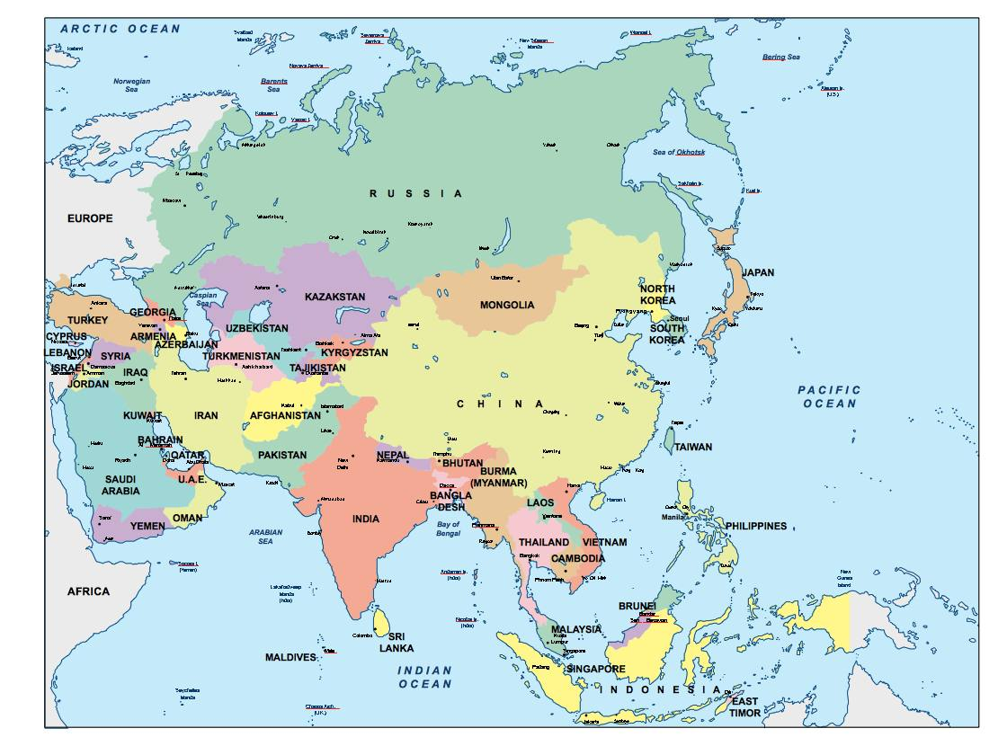 Asia Ppt Powerpoint Maps Open Office Presentations