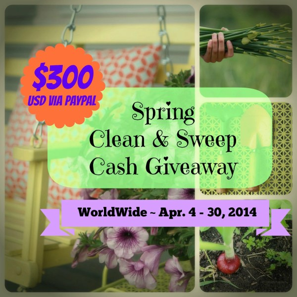 Spring Clean & Sweep Cash Giveaway - Ends April 30, 2014