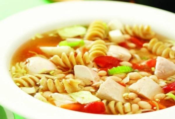 Classic Minestrone Soup Con Pesto Alla Genovese #ChickenDotCa