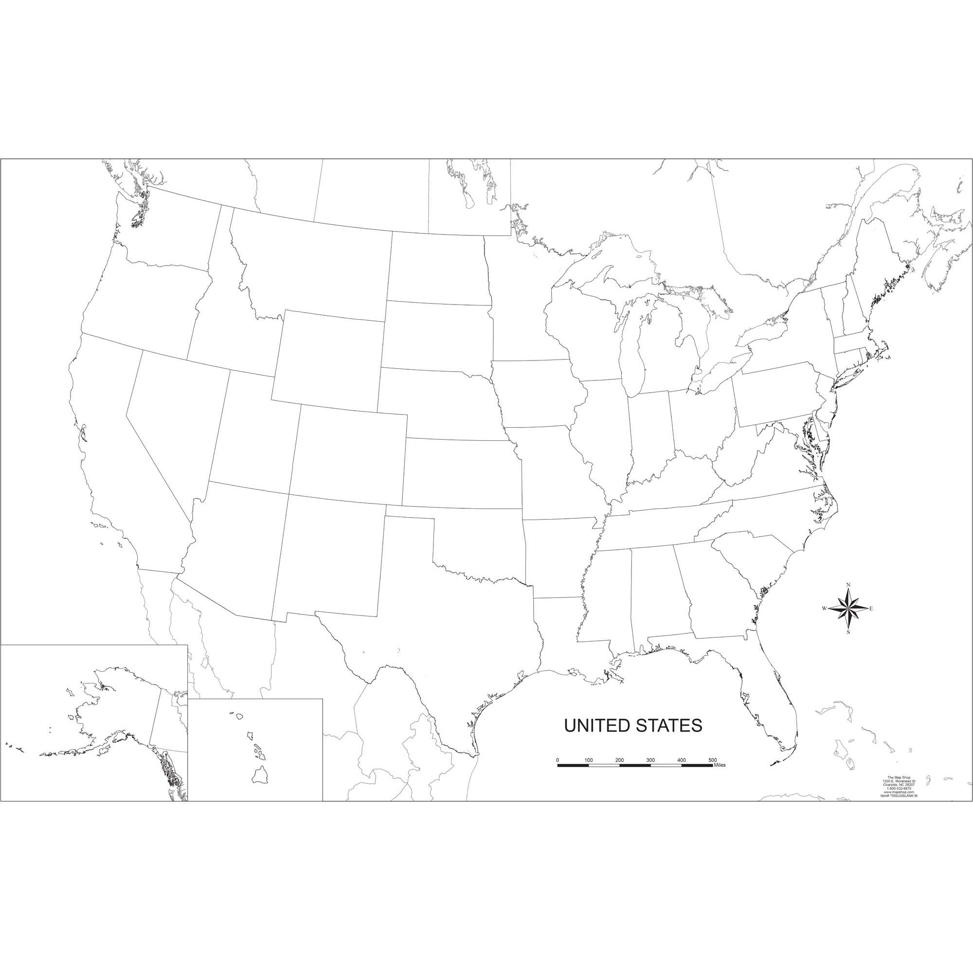 Additionally, travelers love to check out the suggests as there are exciting things. Blank United States Outline Wall Map The Map Shop
