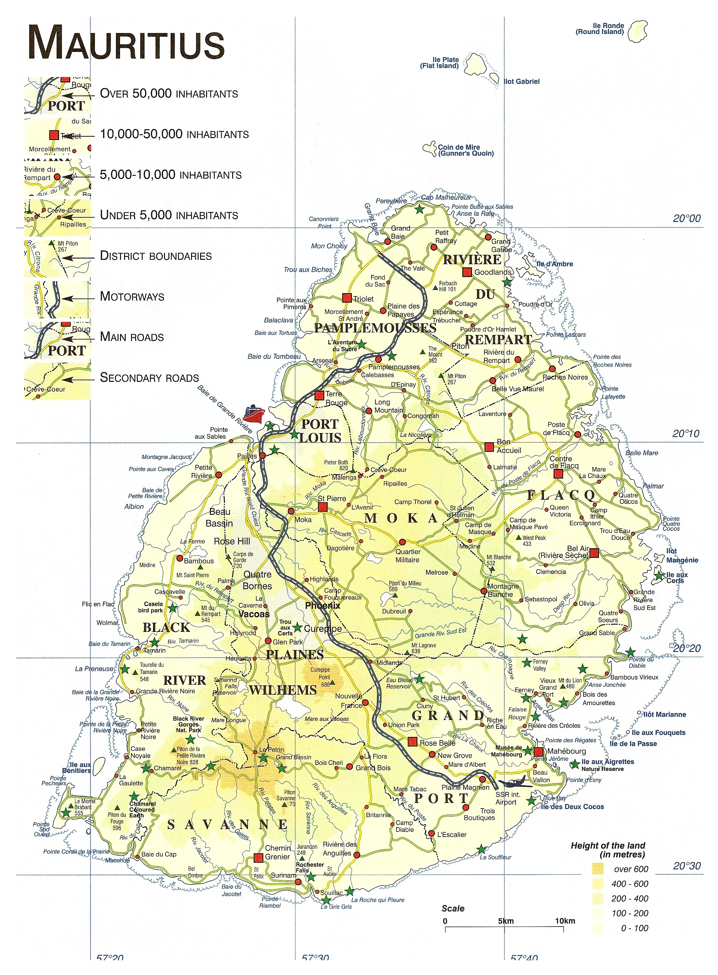 Mauritius Map Coloring Pages