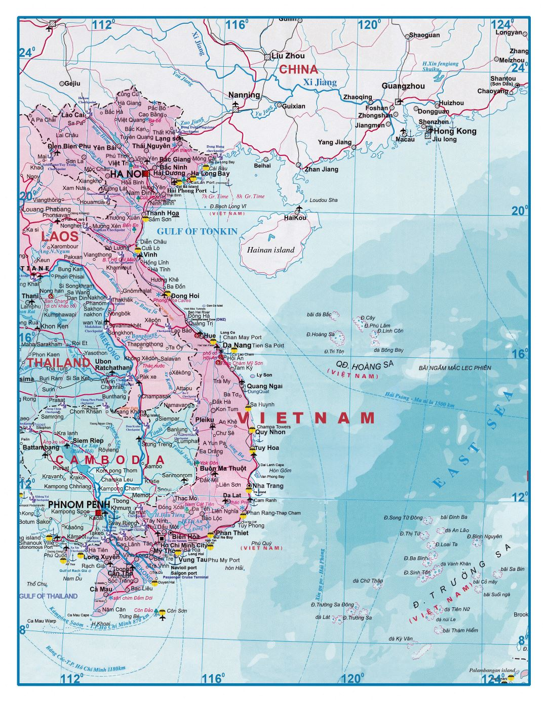 Laos Map Coloring Pages