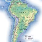 Political Map Of South America With Relief South America Mapsland Maps Of The World