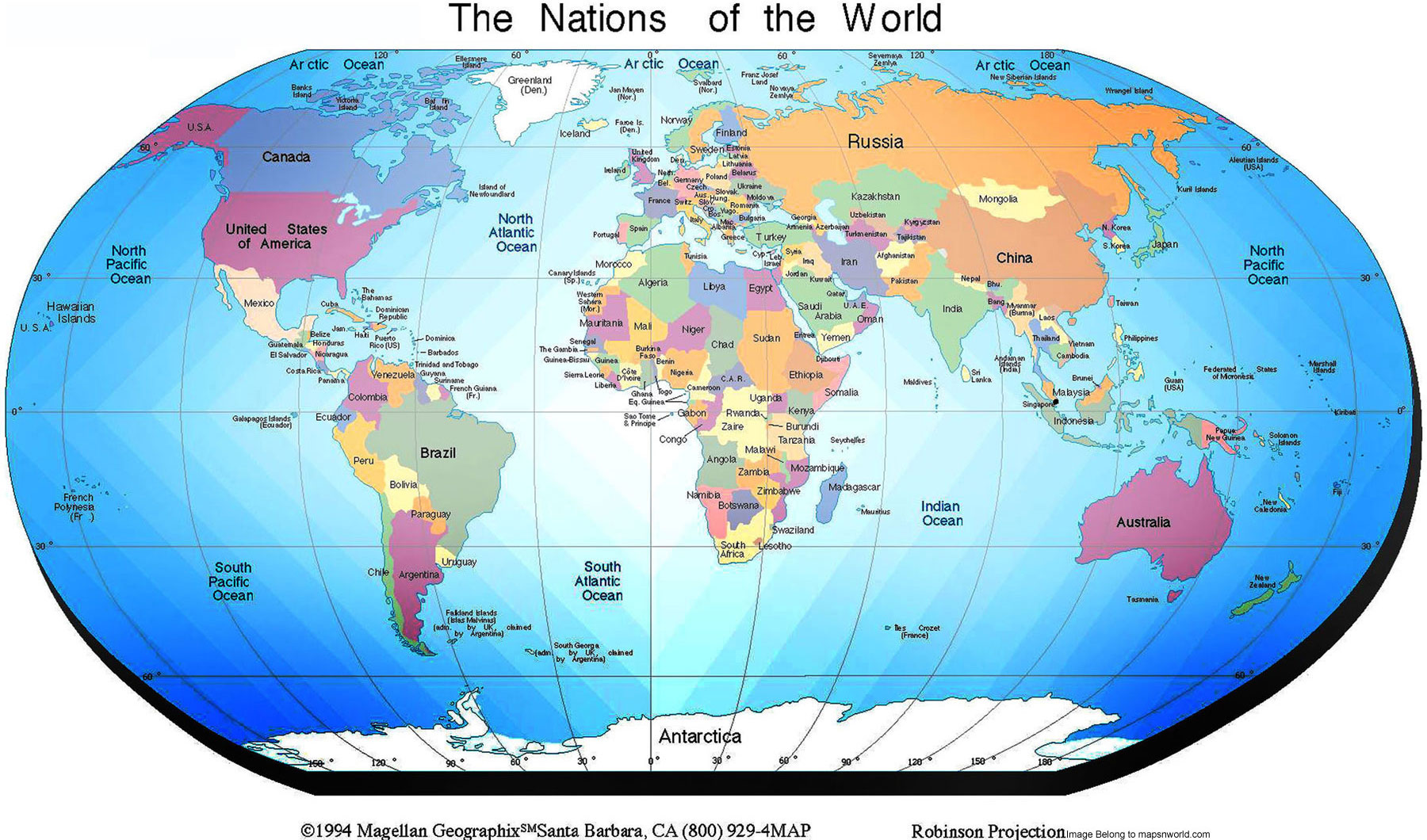 World Map Political Enlarge View